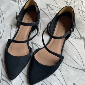 Pointed Strappy Flats